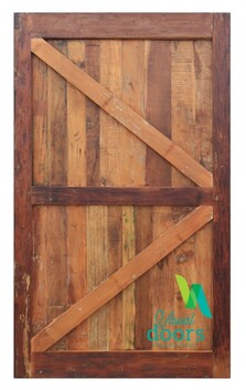 Artisan Vintage Reclaimed Solid Timber Barn Door - British Brace - Single Sided