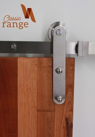 Aero Hanger Stainless Steel Barn Door Hardware Set