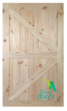 Rustic Pine Barn Door British Brace Style (9 Sizes)