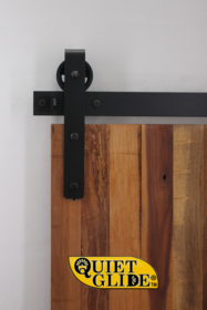 """Quiet Glide"" Hook Strap Barn Door Hardware Kit"