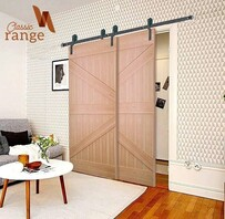 Classic Hanger Bypass Barn Door Hardware Set