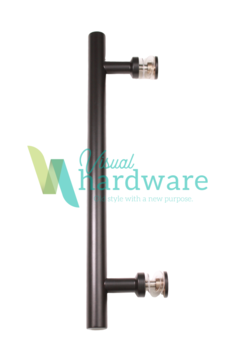 Urban Round Pull Handle, 3 Sizes, Satin Black or Stainless