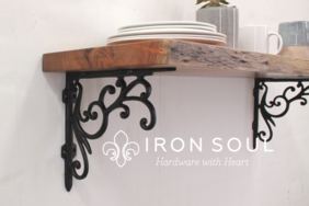 Iron Soul Elegant Shelf Bracket