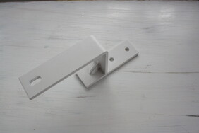 Bypass Track Bracket in White
