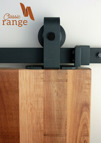 Classic Top Mounted Barn Door Hardware Set