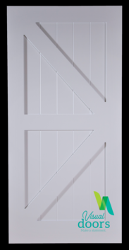 Kitchen White British Brace Barn Door (8 Sizes)
