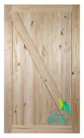 Rustic Pine Timber Barn Door - Z Brace Style (3 Sizes)