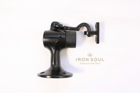 Iron Soul Floor Mounted Door Stopper with Catch