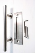 Round Pull Handle with Flush Handle - Stainless Steel - 300mm