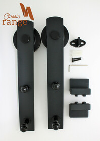 Basic Hanger Parts for a Double/Bi-Parting Door.