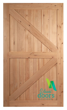 Rustic Alder Barn Door British Brace Style (9 Sizes)
