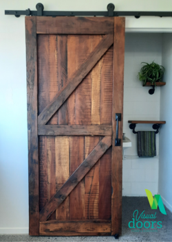 Artisan Vintage Reclaimed Solid Timber Barn Door - British Brace or Double Z - Single Sided