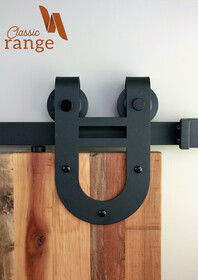 Large Horse Shoe Barn Door Hardware Set
