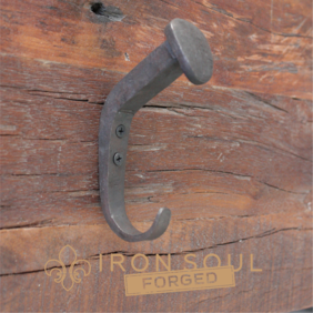 Iron Soul Forged Railway Nail Coat Hook 135mm